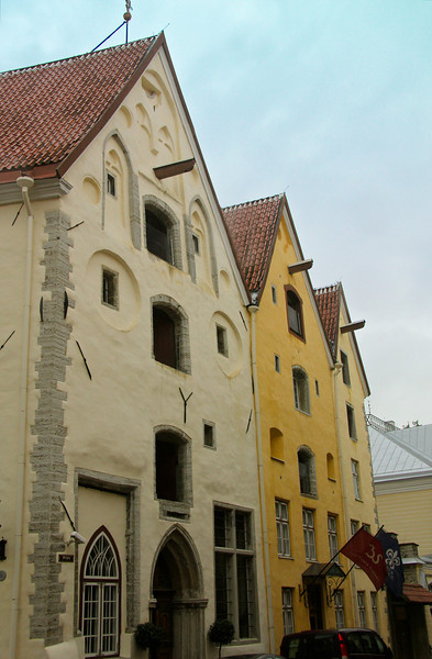 These three splendid merchant houses, built in 1362 were renovated and united in 2003 to create The Three Sisters Hotel on Pikk Street in Old Town -Tallinn, Estonia