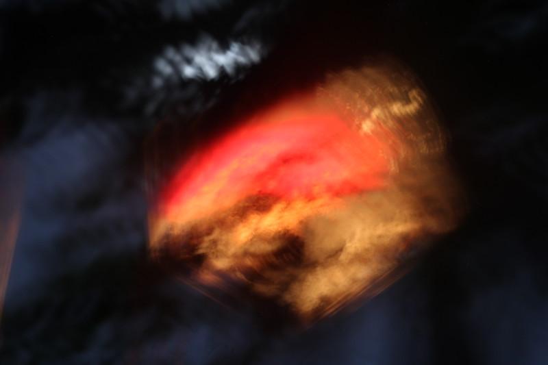 Rudraksha Red Leaf Lamp