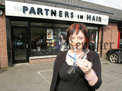 Jolene Sloan the New Stylist at Partners in Hair Warrenpoint Road Newry. 06W21