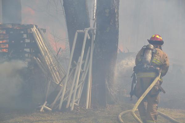 2nd Alarm Equiv. Brush Fire 221 Shoemaker Lane, Agawam, MA 4/15/17