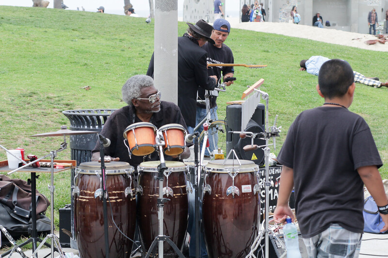 Playing music is popular with buskers