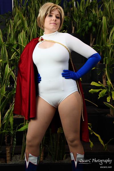 Power Girl (Aithre), Supergirl (Miss Nintendo), Black Canary (Rachel), and DC Group