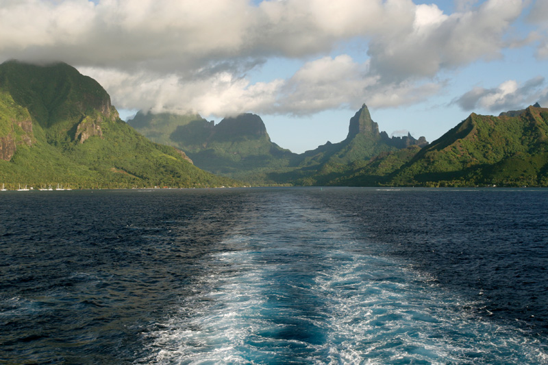 Probably one of our best views of the whole trip.  From Tahitian Princess leaving Moorea.