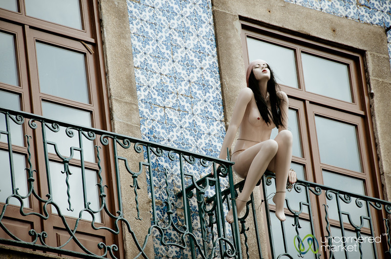 Mannequin on the Balcony - Porto, Portugal