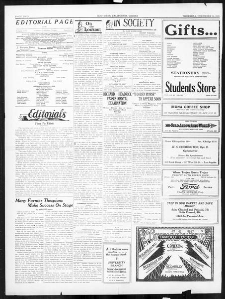 The Southern California Trojan, Vol. 16, No. 31, December 11, 1924