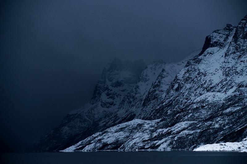 Dark weather in Tromsø, Norway.