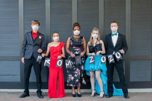 Katie and friends prom 2020