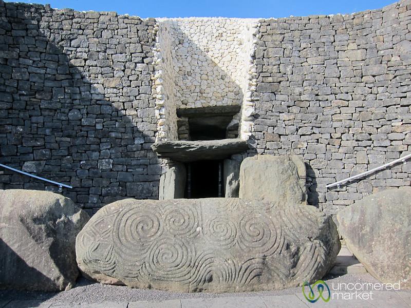 Newgrange Ancient Burial Site Entrance - Ireland
