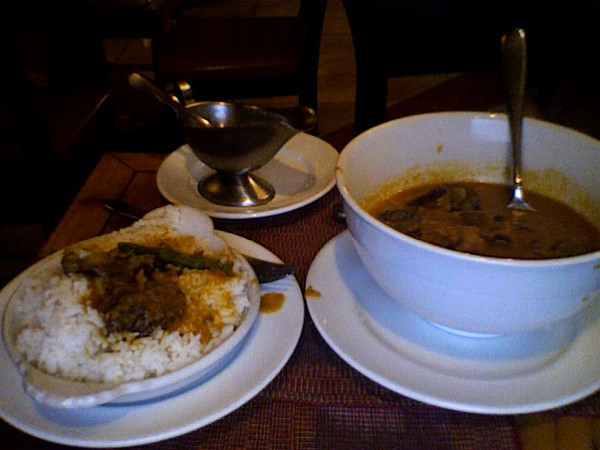 Kare Kare de Pata't Buntot - a local delicacy in Baguio, Philippines