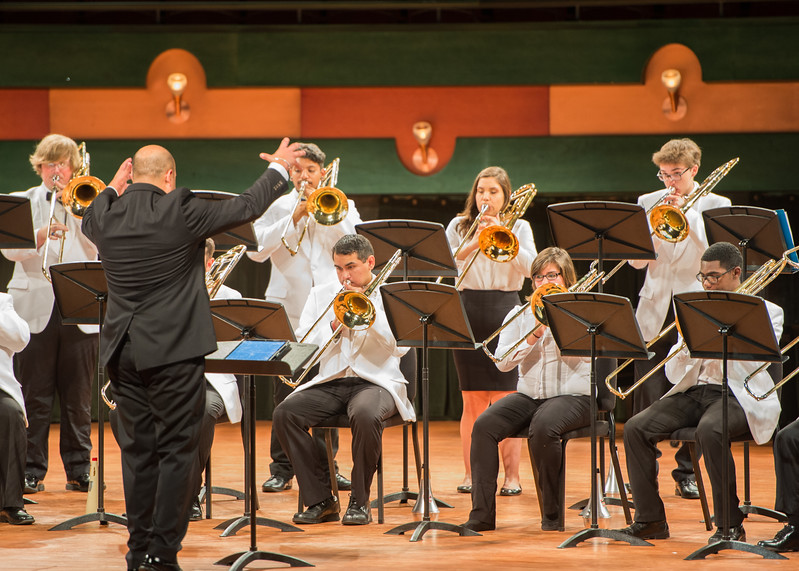 The Islander Trombone Choir recently performed at the Performing Arts Center.