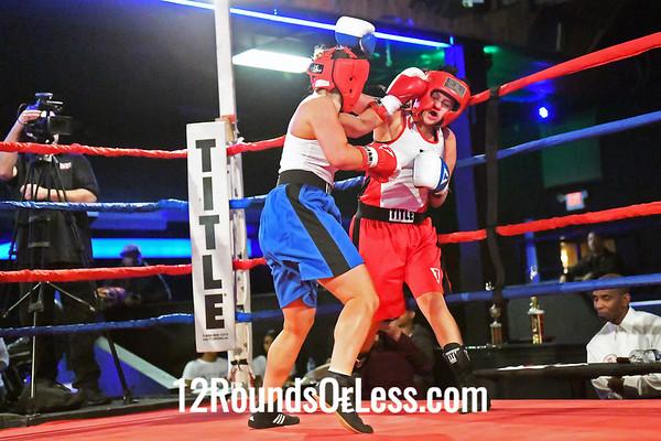 Bout #8:  Katrina Thomas, Red Gloves, Throwdown BC, Louisville, KY   vs   Elliana Oxiaj, Blue Gloves, Spearman's BC, Indianapolis, IN, 125 Lbs.