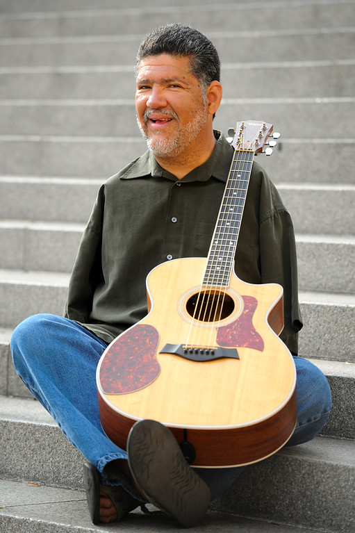 . Amputee Tony Melendez played the guitar for Pope John Paul II during his visit to Los Angeles in 1987. Photographed at the Cathedral of Our Lady of the Angels, Friday, April 25, 2014. (Photo by Michael Owen Baker/L.A. Daily News)