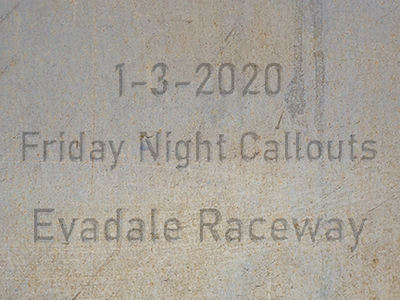 1-3-2020 Evadale Raceway 'Friday Night Callouts'
