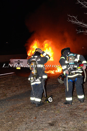 Wantagh F.D. Car Fire N/B Wantagh Pkwy north of the S/S Pkwy 1-13-14