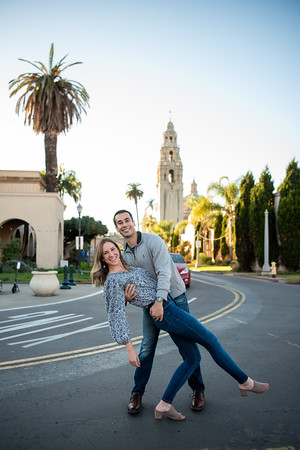 Haley + Nicholas | Engagement Photos Balboa Park | San Diego Photographer