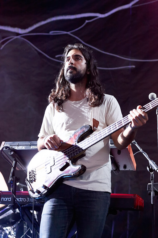 . Rayam Doostzadeh of Young The Giant at DTE-8-1-14. Photo by Ken Settle