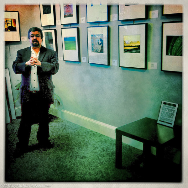 Stan Godwin at Gallery Opening, Orleans, 2012 [Michael A. Karchmer]