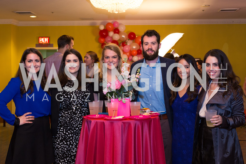 Nicole Savage, Katherine Savage, Sarah Woronoff, Rob Silberman, Catherine Phan, Julia Price Young Patrons National Theatre Fundraiser November 30, 2017 Photo by Naku Mayo