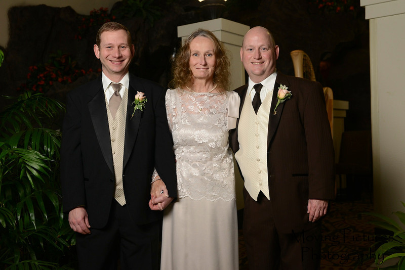 Mark with Mom and brother