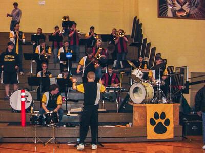 Cheering Tiger Basketball