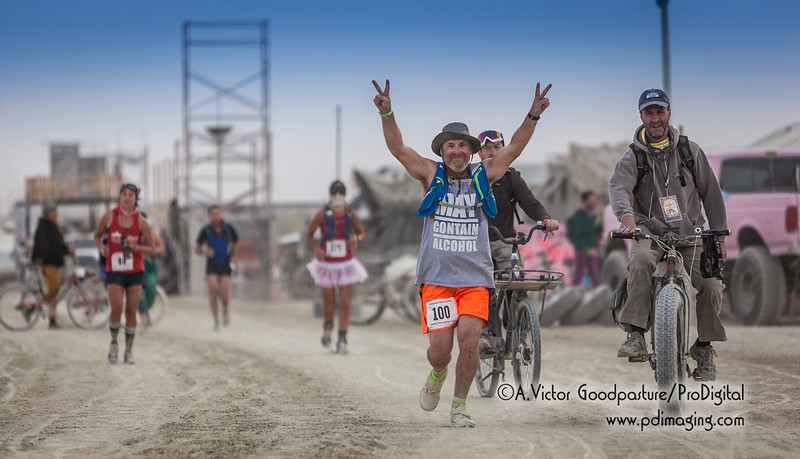 The Burning Man 50K Ultramarathon has people getting up early Tuesday morning. That's tough considering all of the playa's distractions.