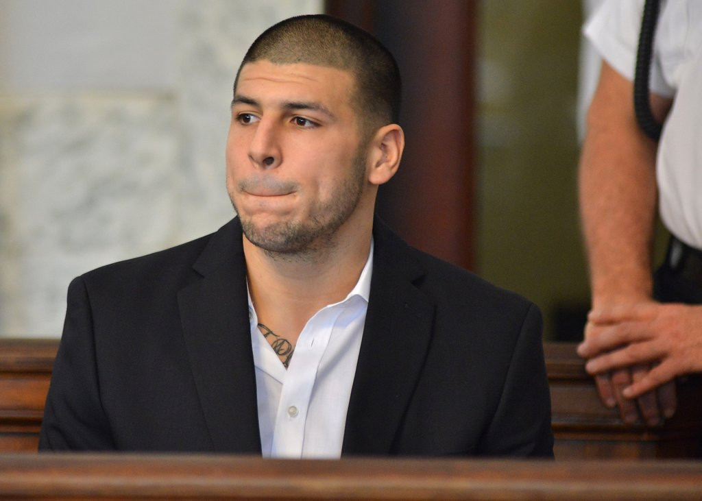 ". <p>1. AARON HERNANDEZ  <p>Behind every great angel dust-addicted tight end is a coach or two covering his tracks. (unranked) <p><b><a href=\'http://www.rollingstone.com/culture/news/five-revelations-from-rolling-stones-aaron-hernandez-story-20130827\' target=""_blank\""> HUH?</a></b> <p>   <p>OTHERS RECEIVING VOTES <p> Golf Channel, Nidal Hasan, Victoria Duval, Syria, C.J. Wilson, Pat Robertson, Marlon Byrd T-Shirt Night, Jeremy Jurkiewicz, Richard Branson�s tips, Fox Sports 1, Anthony Weiner, Justin Verlander, Michael Douglas & Catherine Zeta-Jones, Scottie Pippen, Patch.com, Shellie & George Zimmerman, Kevin Williams, Houston Astros, DuJuan Harris, Alec Baldwin,  Julian Assange, Jon & Kate Gosselin, Jerome Felton, Lamar Odom. <p>  (AP Photo/Josh Reynolds)  <br><p>Follow Kevin Cusick on <a href=\'http://twitter.com/theloopnow\'>twitter.com/theloopnow</a>."