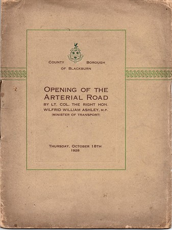Blackburn Opening of the Arterial Road October 18th 1928