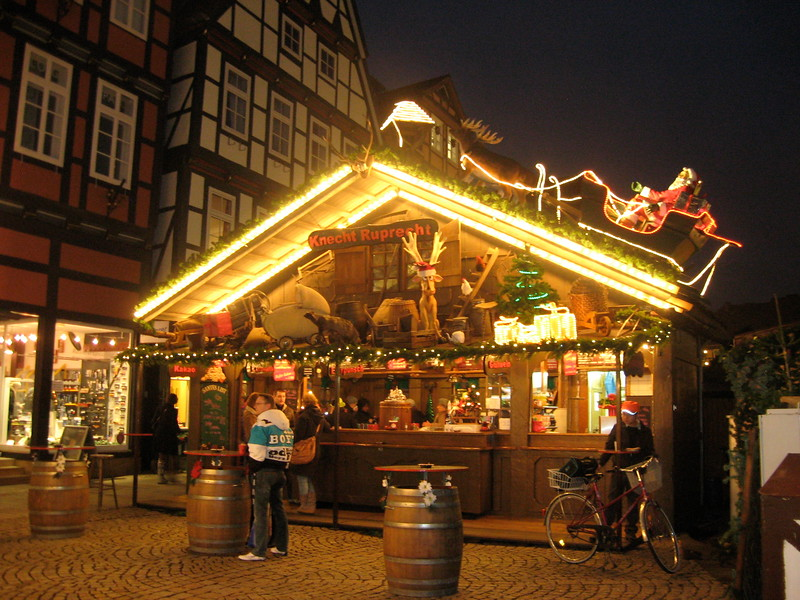 german christmas market stall
