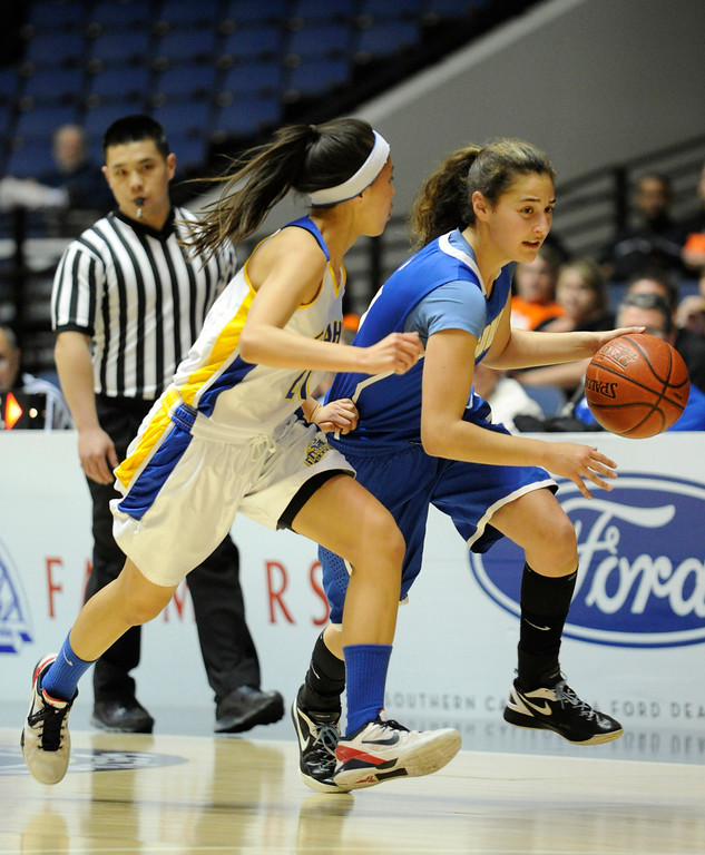 . Agoura defeated Gahr 60-39 in the CIF-SS Division III-AAA Girls Basketball Championship at the Anaheim Convention Center in Anaheim, CA 2/23/2013(John McCoy/Staff Photographer)