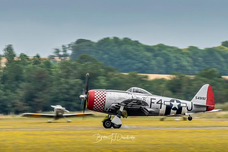 Republic P-47D Thunderbolt (G-THUN) touchdown