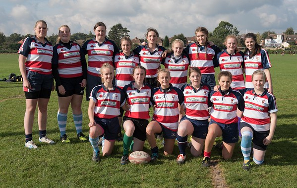 The Southern Surrey Belles at Ashford RFC October 2015