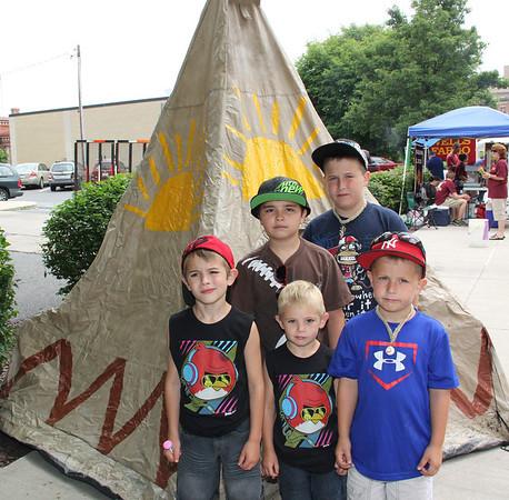 Photos With Indian, Tamaqua Summerfest, Historical Society, Tamaqua (6-17-2012)