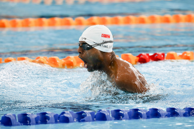PARA SWIMMING - JOSHUA in action & representing Singapore in Men's 100 LC Meter Breaststroke Finals at Aquatics Centre, KL on September 18th, 2017 (Photo by Sanketa Anand)