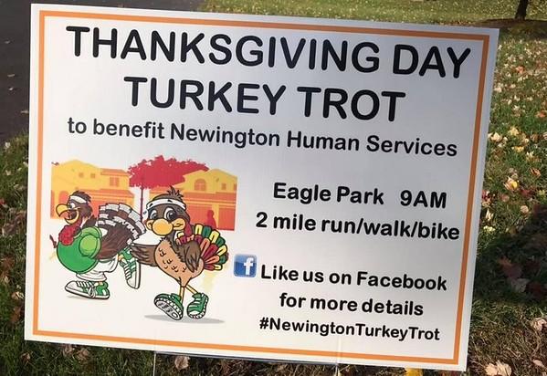 turkey trot sign