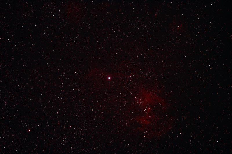 Caldwell 100 - IC2944 - Running Chicken or Lamda Centauri Nebula - 1/2/2011 (Processed stack)