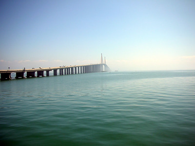 Sunshine Skyway Bridge and Piers