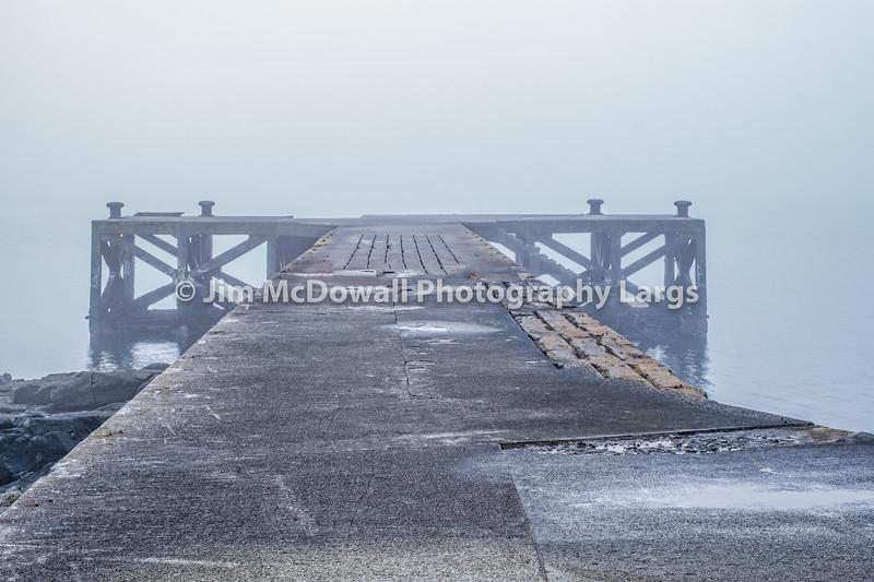 Old Jetty Portencross Shrouded in Freezing mist.