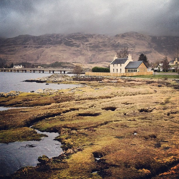 Wee Three Loch house, at the confluence of Lochs Duich, Alsh and Long #Scotland #blogmanay