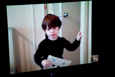James on webcam 2009 February 21st