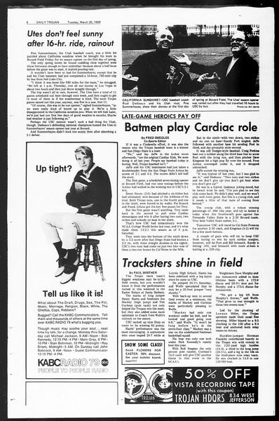 Daily Trojan, Vol. 60, No. 97, March 25, 1969