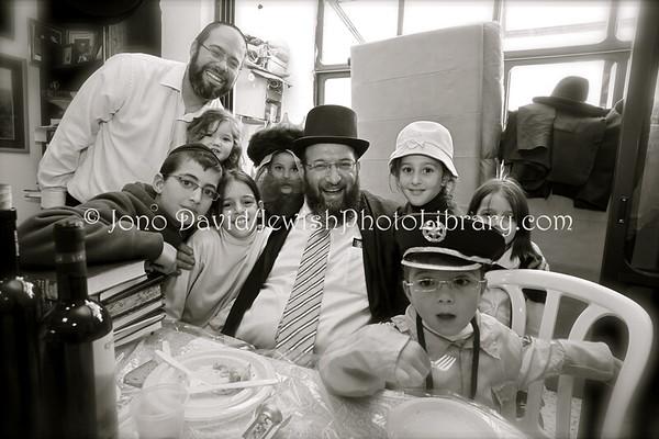 ISRAEL, Jerusalem, Har Nof. Purim at home (3.2010)