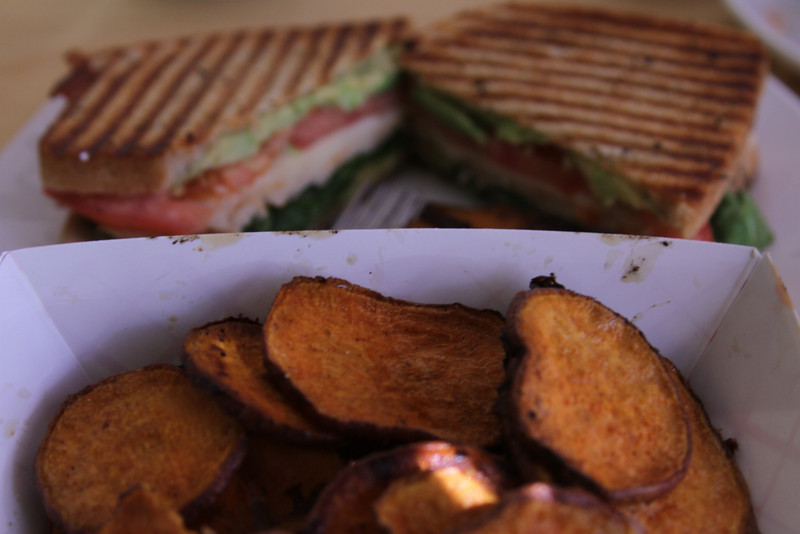 The Triple Decker/ Sweet Potato Fries