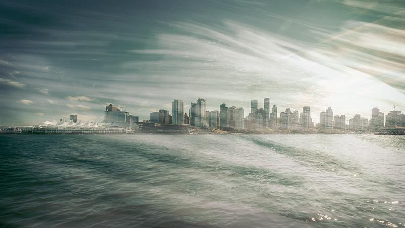 Vancouver Skyline - Double Exposure I