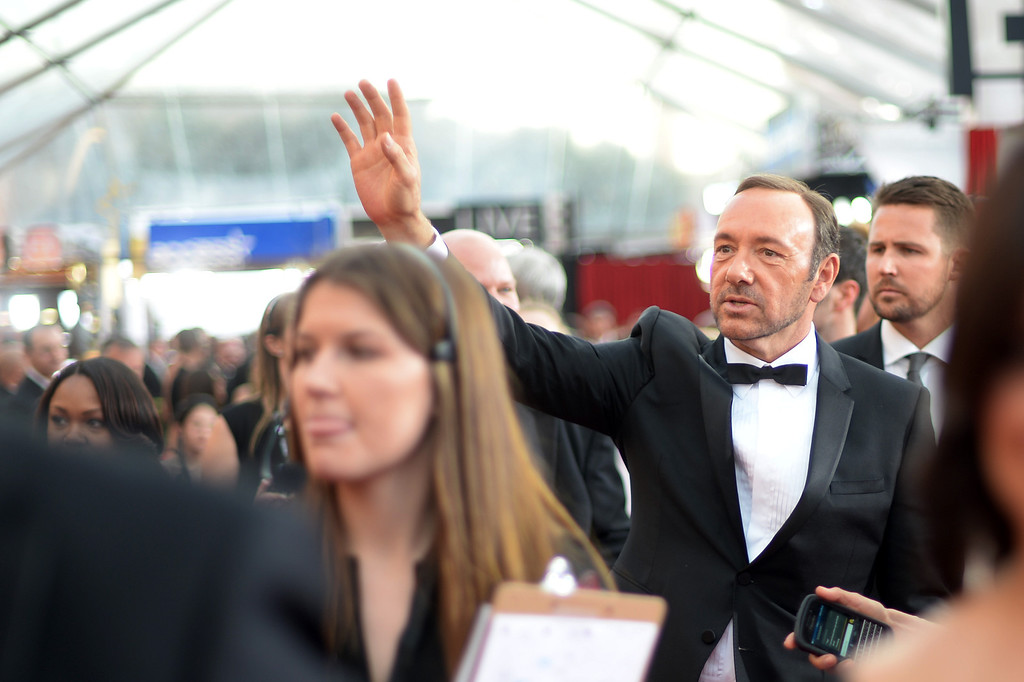 . Kevin Spacey on the red carpet at the 20th Annual Screen Actors Guild Awards  at the Shrine Auditorium in Los Angeles, California on Saturday January 18, 2014 (Photo by Hans Gutknecht / Los Angeles Daily News)