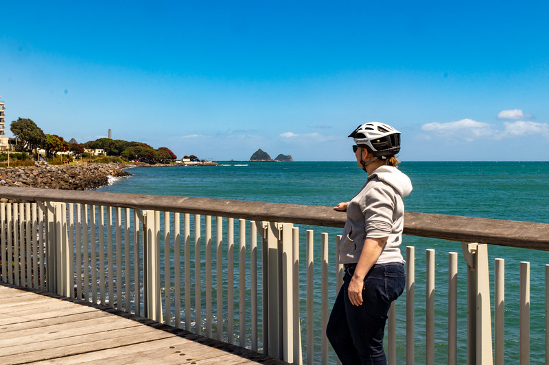 K on the New Plymouth Coastal Walkway