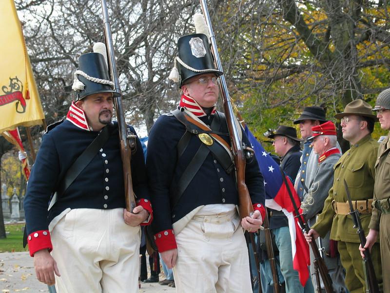 War of 1812 re-enactors
