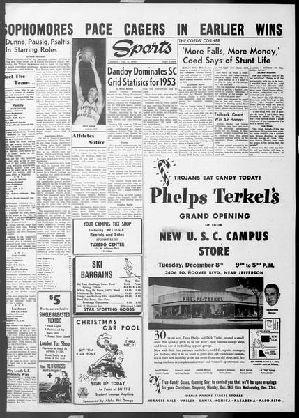 Daily Trojan, Vol. 45, No. 54, December 08, 1953