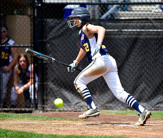 7/25/2019 Mike Orazzi | Staff Connecticut's Madyson Bull (12) during the Eastern Regional Softball Tournament at Breen Field in Bristol on Thursday.