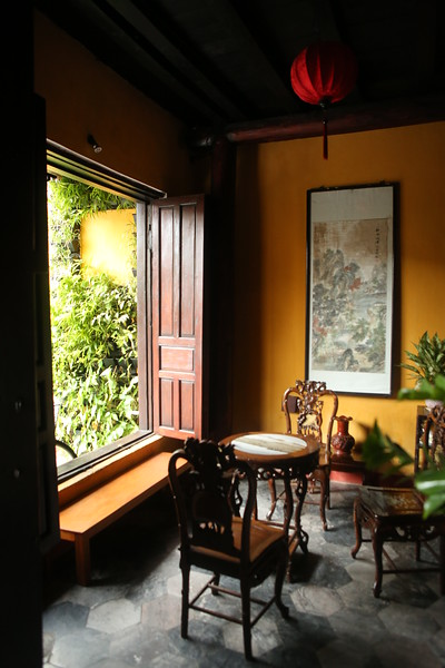 Sitting area inside the  Vinh Hung Merchants House