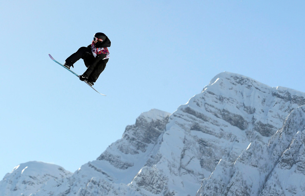 . Clemens Schattschneider of Austria during the Men\'s Snowboard Slopestyle qualification at Rosa Khutor Extreme Park at the Sochi 2014 Olympic Games, Krasnaya Polyana, Russia, 06 February 2014.  EPA/HELMUT FOHRINGER